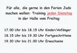 Training in den Osterferien